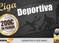 Participa en la Liga Deportiva, repartimos 200€ todos los meses